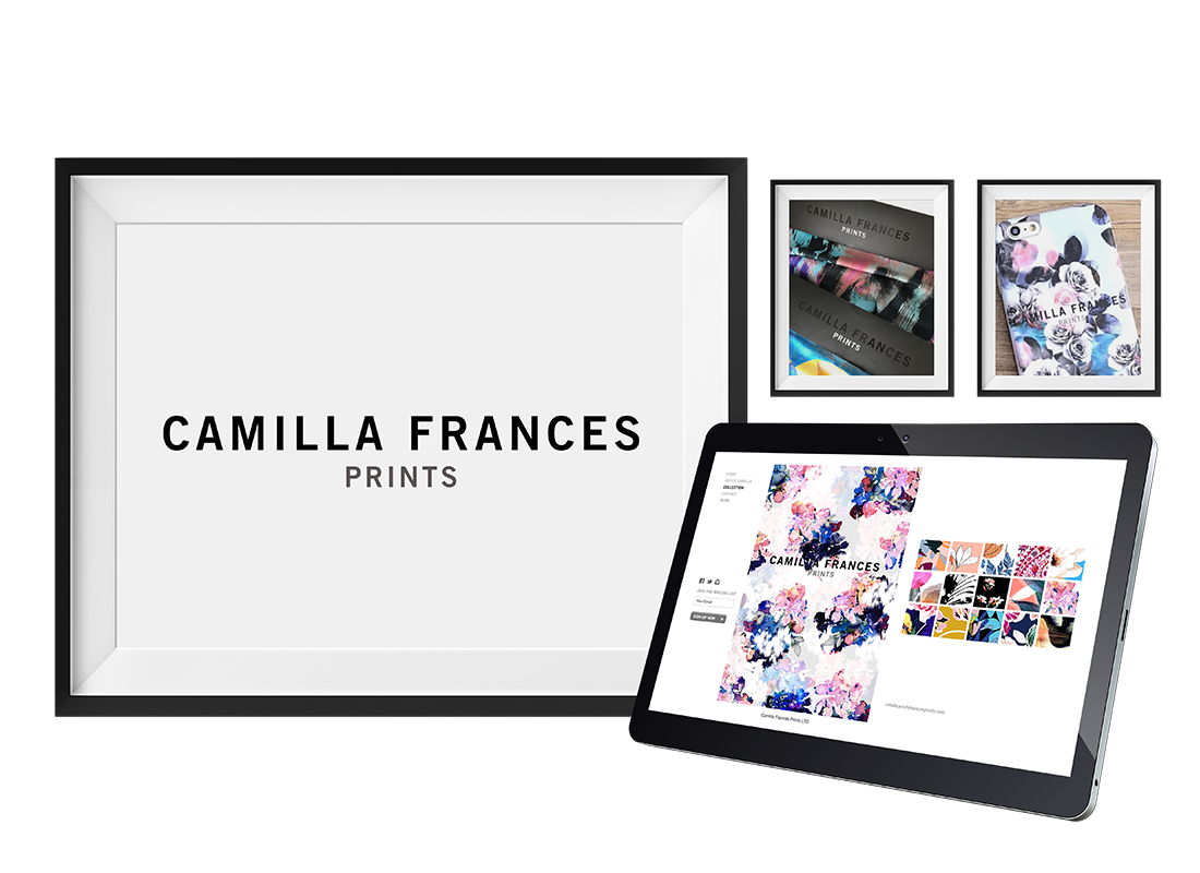 Camilla Frances Prints Stationery | Brochure Design | Exhibitions graphics