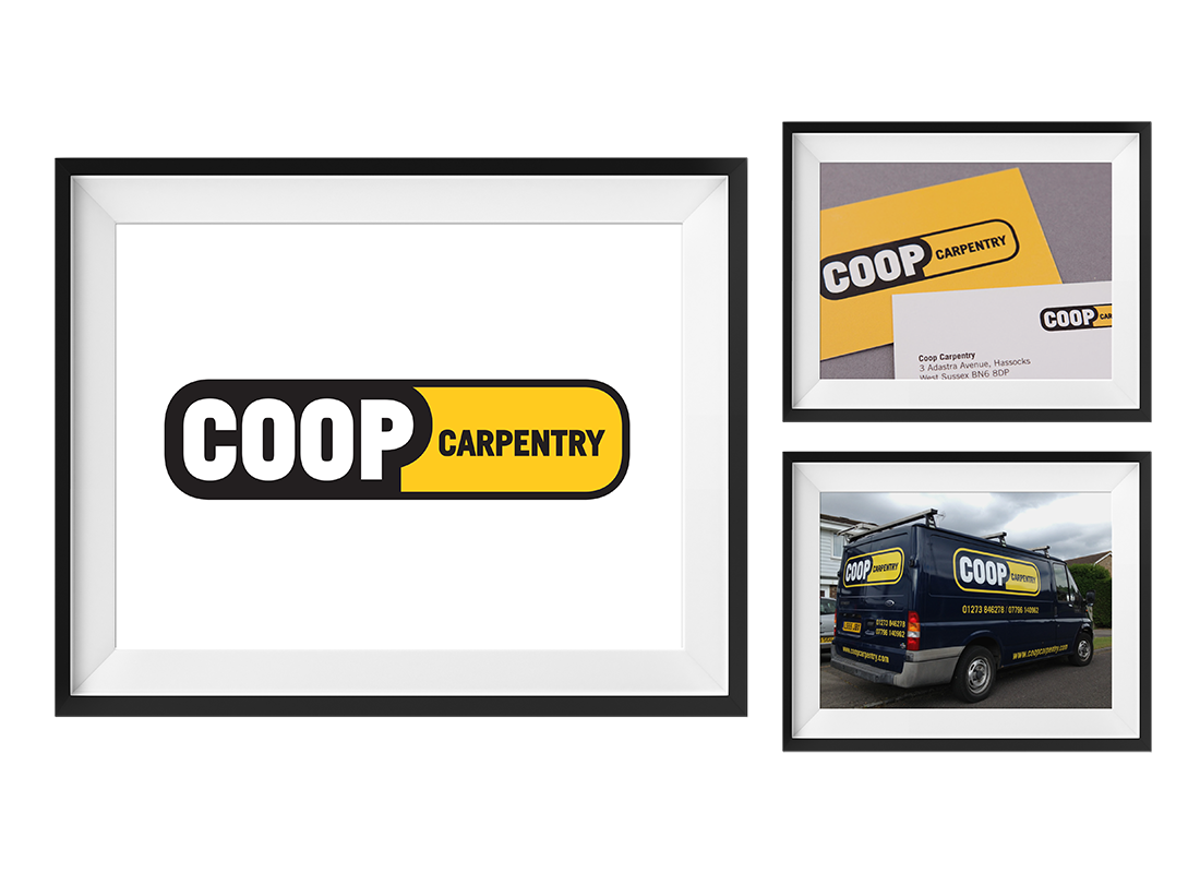 Coop Carpentry Clothing | Business Cards | Van Wrap