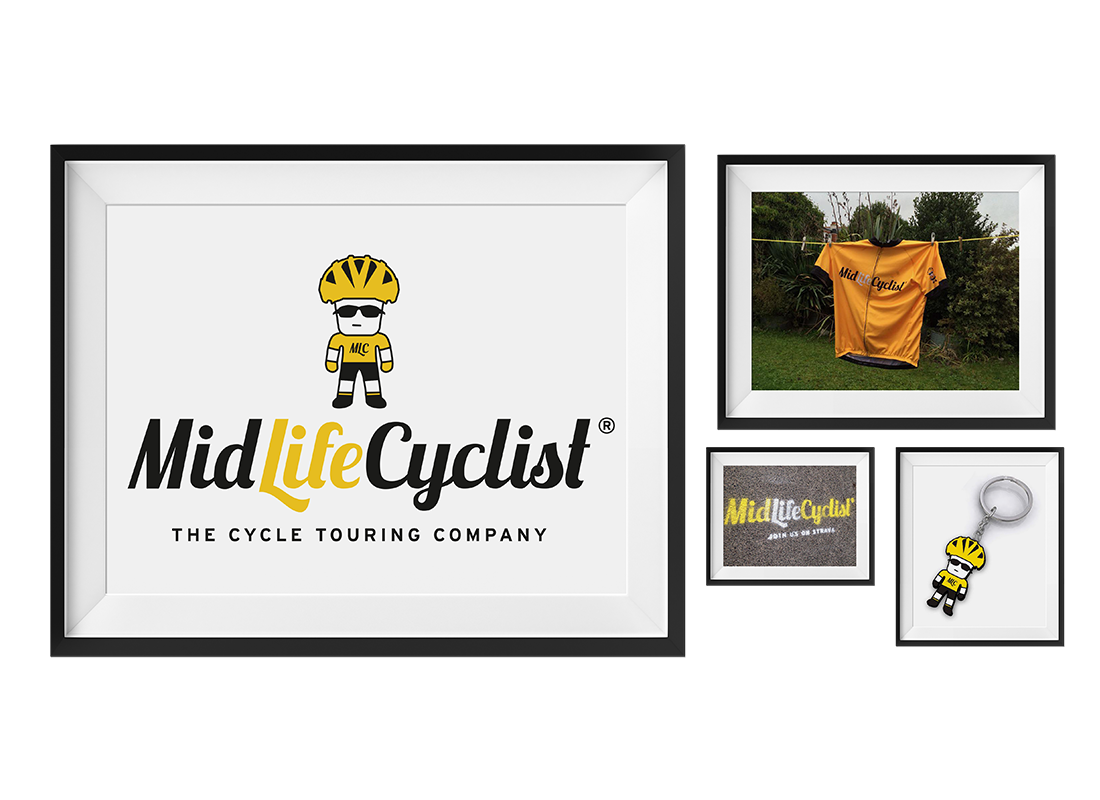 Mid Life Cyclist Character Design |  Stationery |  T-shirts | Key Rings