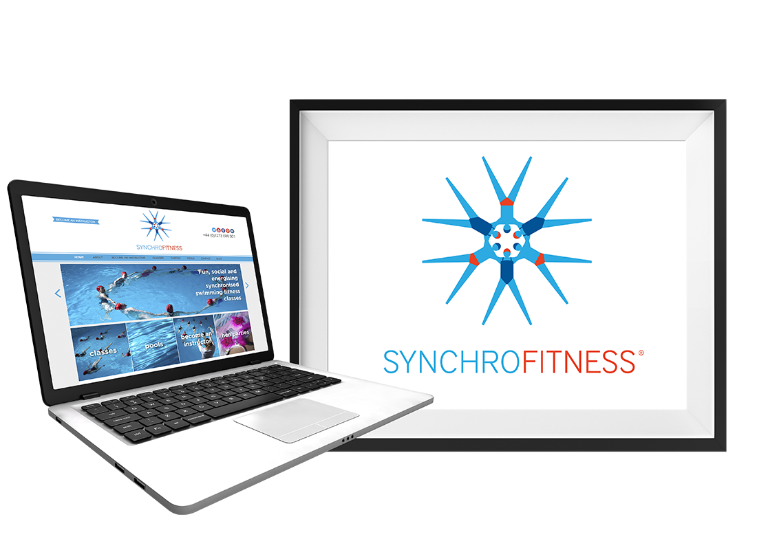 Synchro Fitness Website Design | Leaflets | Business Cards