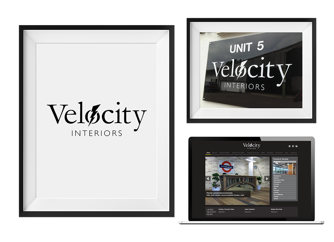 Velocity Interiors Signage | Stationery |  Clothing