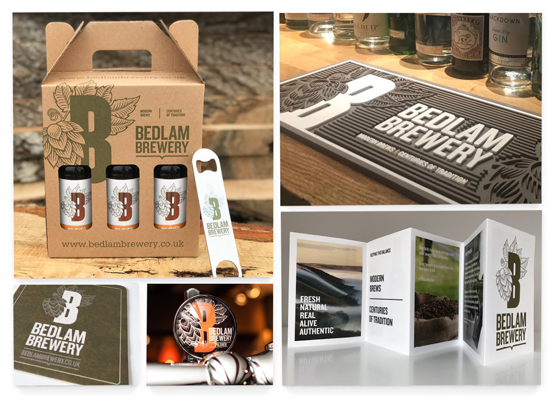 Bedlam Brewery Packaging Design | Advertisements | Pump clips | Clothing and Livery