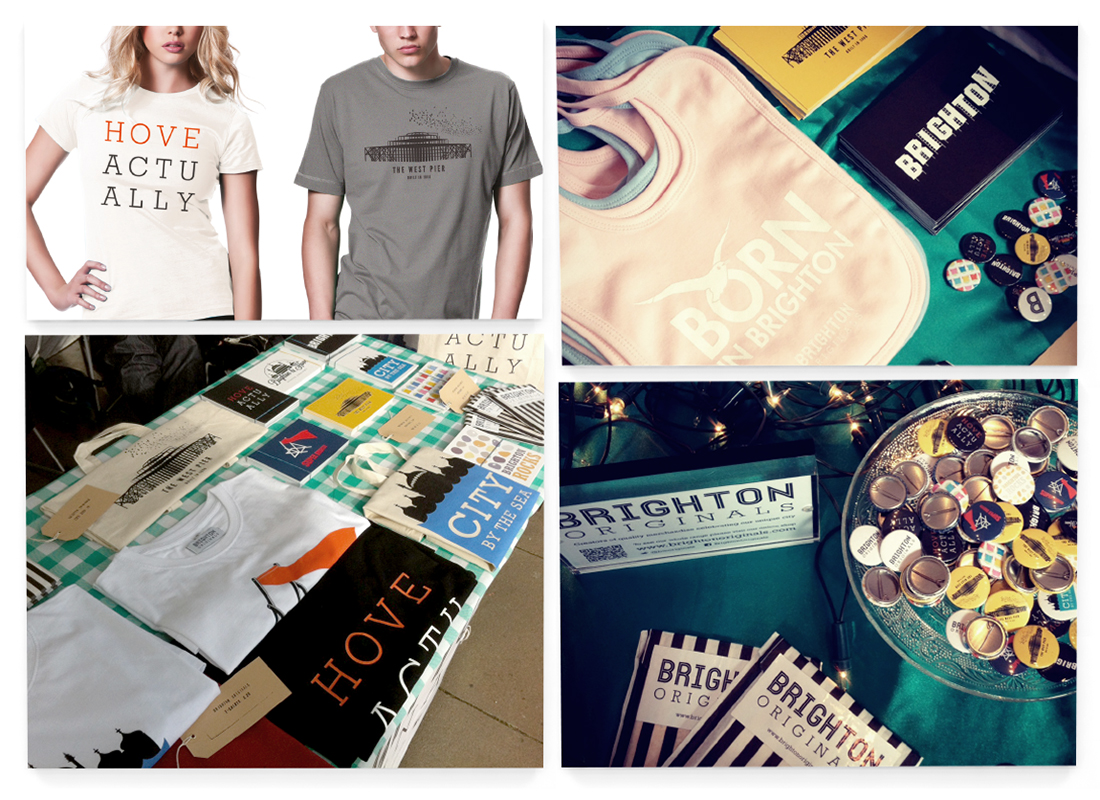 Brighton Originals Clothing Design | Gift Merchandise | Marketing Material