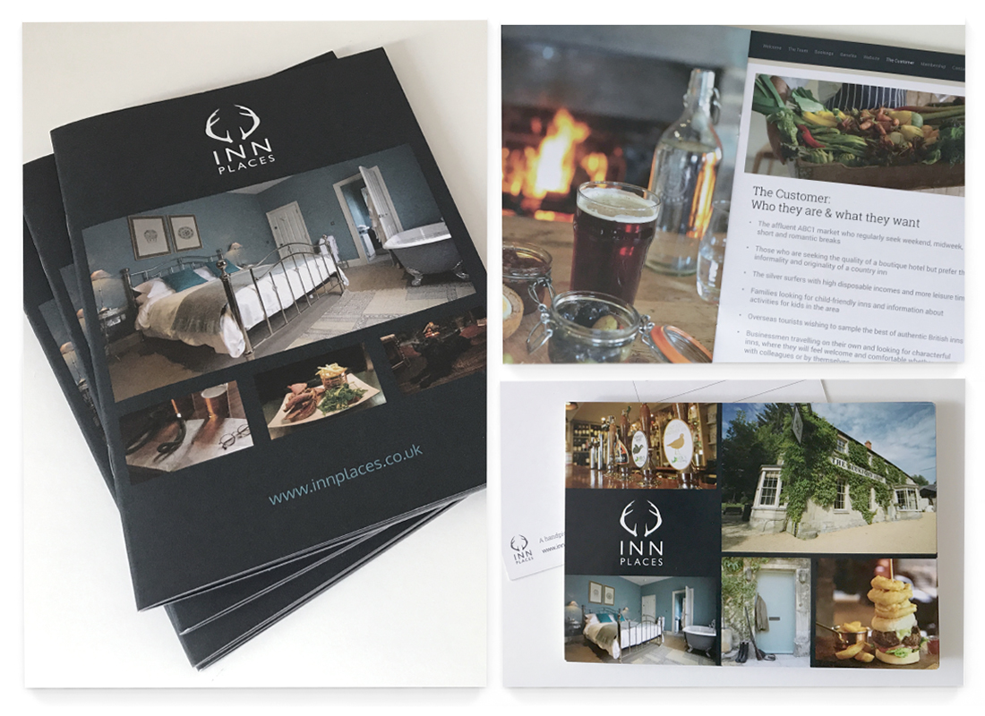 Inn Places Brochure Design | Stationery | Postcard Design | Advertisements | Marketing Material