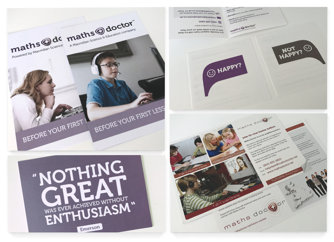 Maths Doctor Leaflet Design | Booklet Design | Advertisements