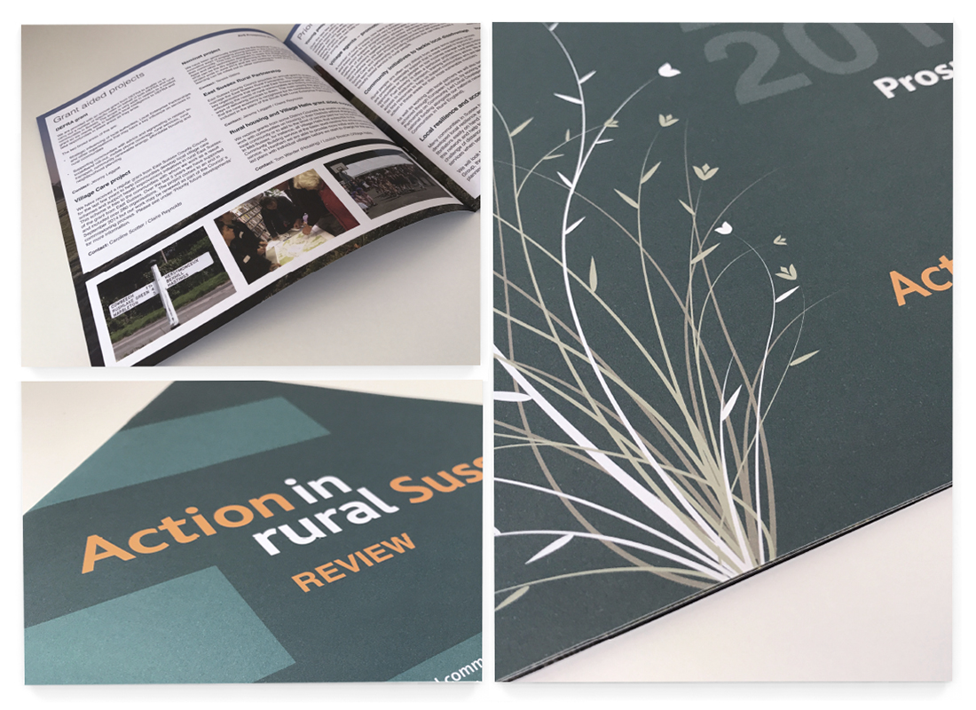 Rural Sussex Brochure Design | Pop Up Banner Design | Annual report