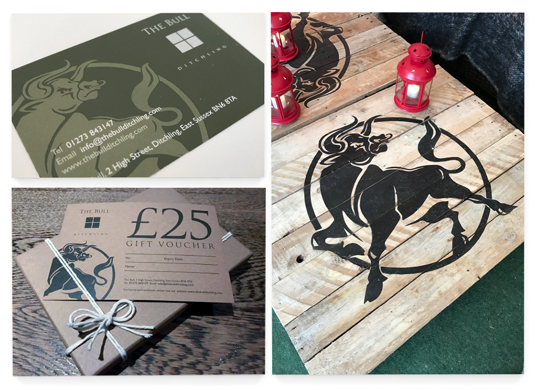 The Bull Advertisements | Marketing Material | Menus | Signage