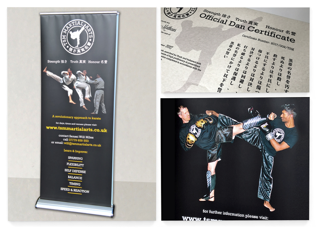 TSM Martial Arts Banner | Certificates | Posters