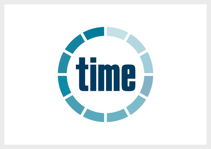 time accounts logo designed trigger solutions web