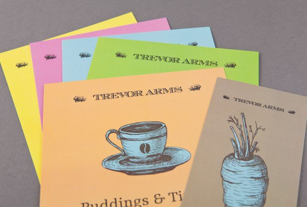 Trevor Arms Menu and Leaflet Design